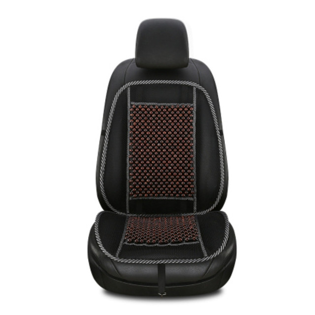Universal Massage Wood Beads Seat Cover Cooling Natural Wooden Car Cushion Mesh Mat For