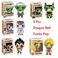 FUNKO POP Figura de Dragon Ball Z Super Saiyan Goku Vegeta celular Freezer Piccolo dragón Figuras de Acción doll PVC Modelo juguetes para niños