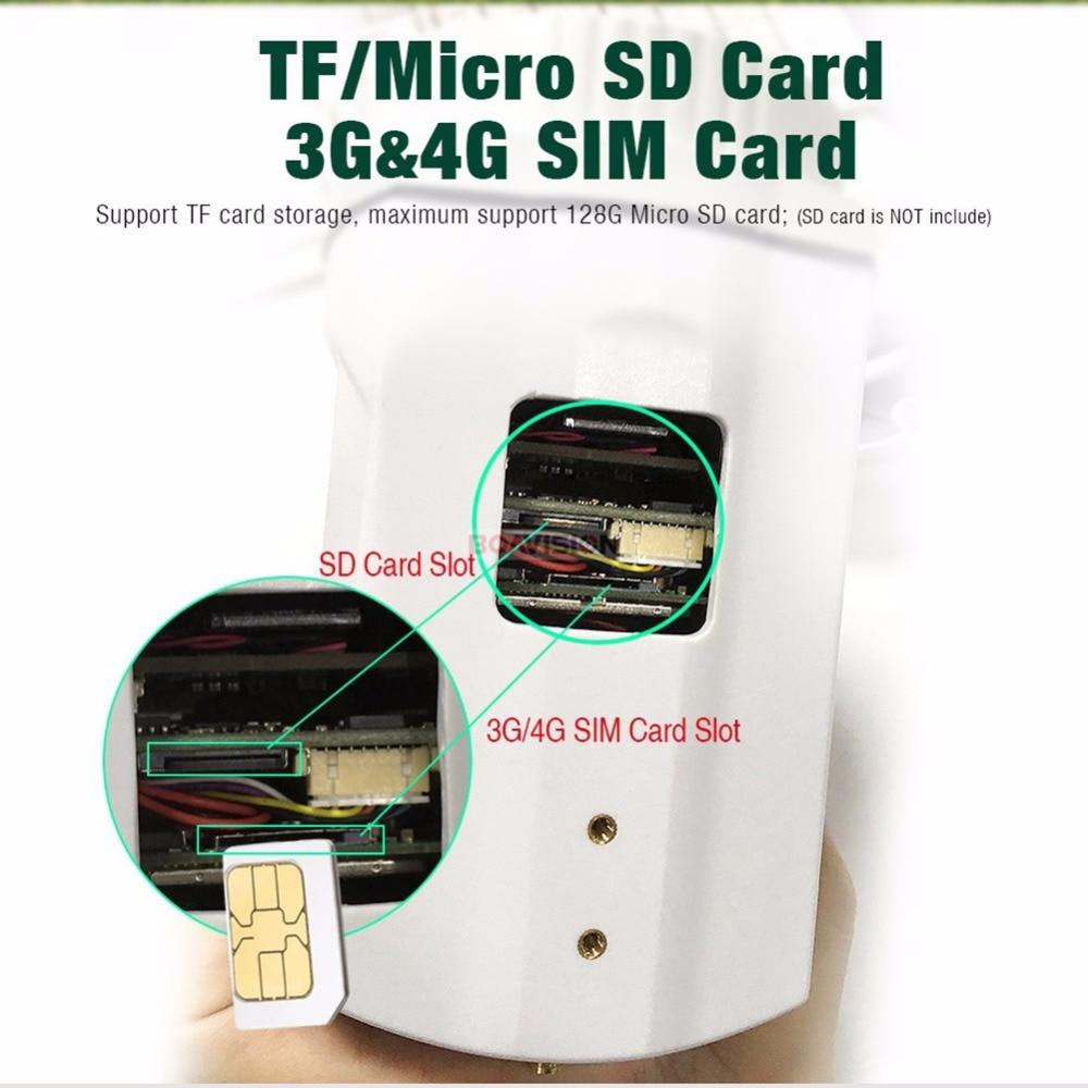 1080 P 3G 4G PTZ caméra IP extérieure Wifi carte SIM caméra P2P Support Micro SD carte stockage Wi-Fi Cam 5X 10X Zoom objectif caméras de vidéosurveillance - 3