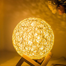 USB Power Dimmable 3D Rattan Ball night Lamp 15CM Switch Bedside Table for Living Room Birthday Gift Xmas Home Decor
