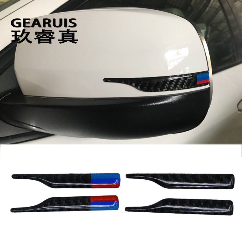 Carbon Fiber Rearview Mirror Anti-Rub Strips Protector for bmw e90 e60 f30 f34 f10 f20 x1 x3 x4 x5 x6 Car Anti-collision Strip f10 side wing rearview mirror cover caps for bmw sedan 11 13 carbon fiber
