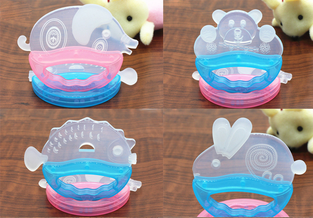 1PCS Animal Silicone Baby Teether Feeder Small Baby Protection Fish ...