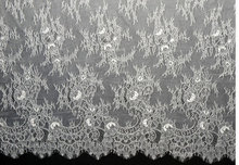 Wedding Gown French Lace Fabric,Chantilly Lace for Bridal Gown ,3 meters/pc