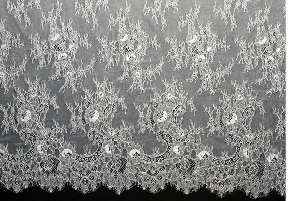 French Lace Wedding Gown: Wedding Gown French Lace Fabric,Chantilly Lace For Bridal