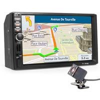 2 Din Car Multimedia Player+GPS Navigation+Camera Map 7'' HD Touch Screen Bluetooth Autoradio MP3 MP5 Video Stereo Radio NO DVD