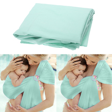 Breathable Baby Carrier Wrap with Adjustable Double Ring Sling