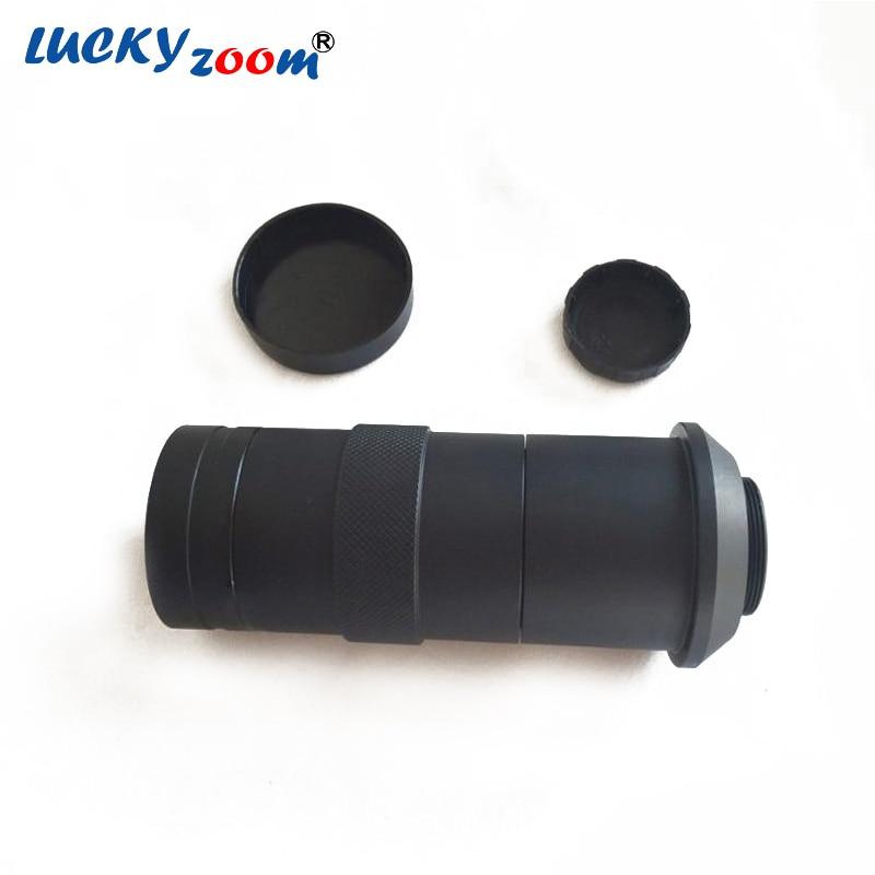 Luckyzoom 8X 100X C mount Lens Adapter Monocular Microscope Zoom Video Camera 55mm 285mm Ring 40mm DIA AV TV Free Shipping