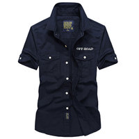 AFS JEEP Summer Men S Shorts Shirts Brand Clothing Men Casual Big Size S 4XL Fashion