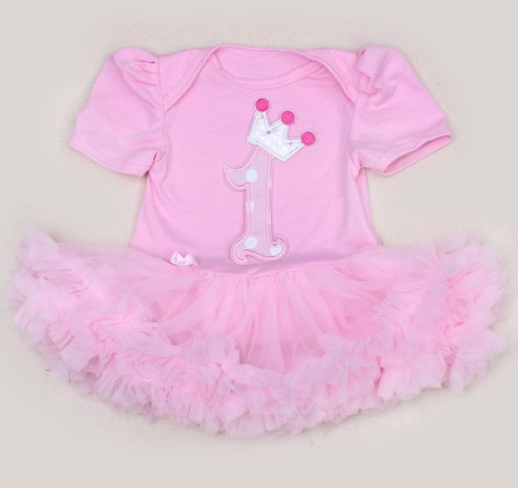 Ulang tahun One Piece Baru Lahir Bayi Perempuan Baju Monyet Gaun - Pakaian bayi
