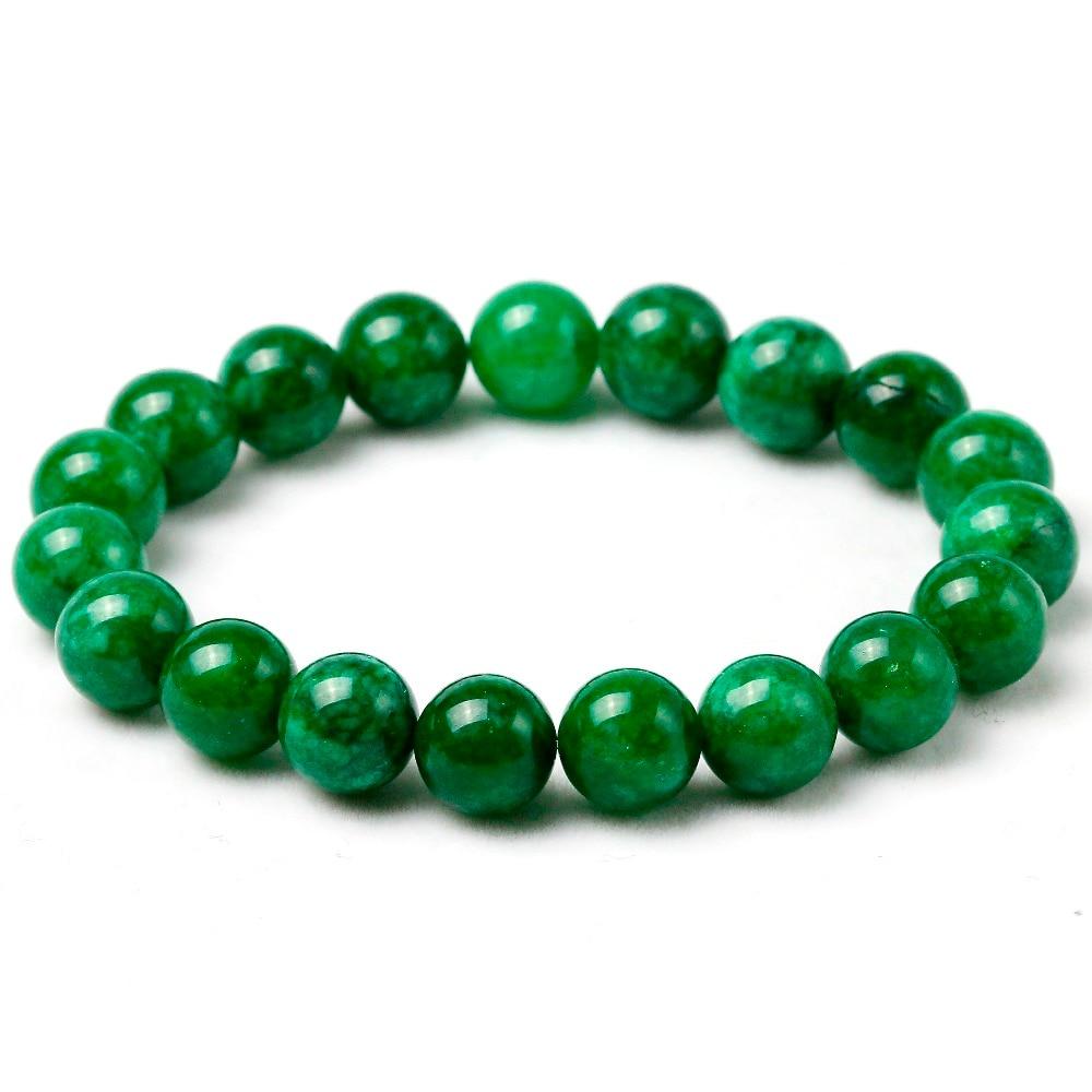 Bracelet Natural Stone Green Stone Jewelry Bracelets For Women Diy Handmade Love Gift Strand Beaded Bracelet