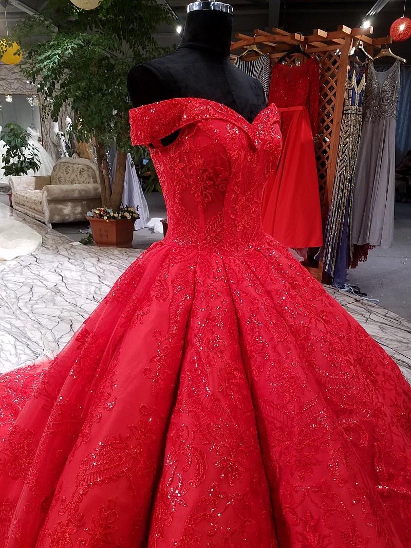 LS3392 կարմիր երեկոյան զգեստ երեկոյան - Հատուկ առիթի զգեստներ - Լուսանկար 4