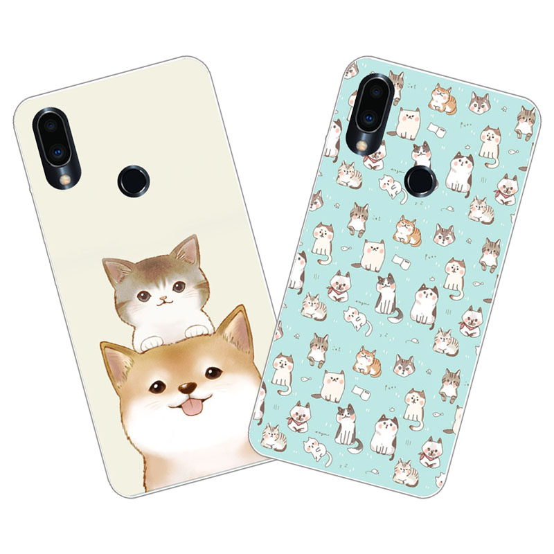 Meizu note 9 Case,Silicon Cute cat cartoon Painting Soft TPU Back Cover for Meizu note9 Phone protect cases shell