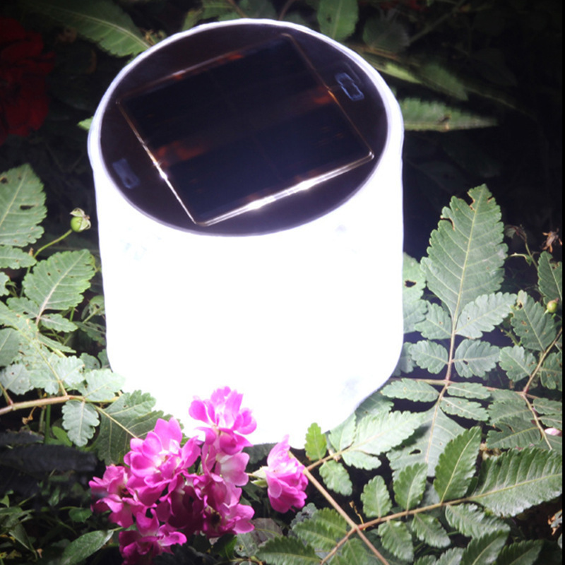 10 LED Solar Powered Light Table Lame Outdoor Foldable Inflatable Lantern Tents Lamp For Camping Garden
