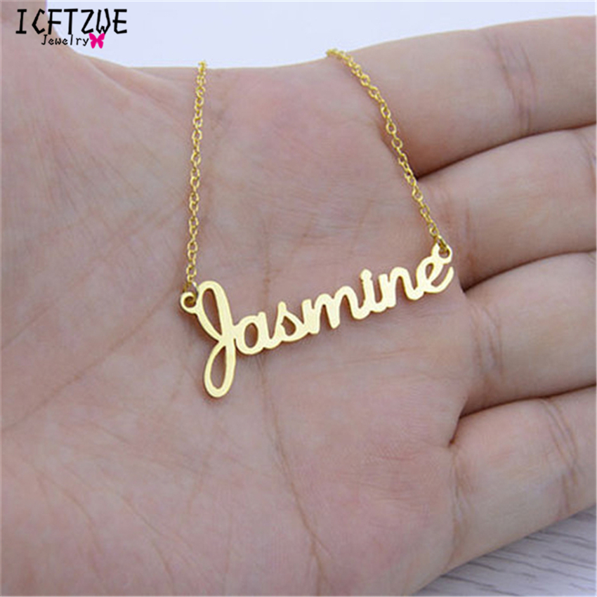 Handmade Jewelry Any Personalized Name Necklaces Women Men Silver Gold Rose Choker Custom Necklace Engraved Bridesmaid Gift IdeaHandmade Jewelry Any Personalized Name Necklaces Women Men Silver Gold Rose Choker Custom Necklace Engraved Bridesmaid Gift Idea