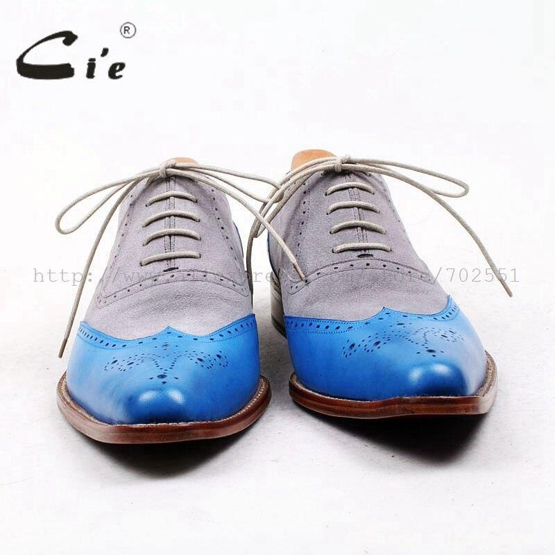 Oxford Plein En Haute La Pleine Ox445 Chaussures Pointu Cuir Sur Fleur Qualité À De Mesure Casualshoe Cie Main Gris Derbies Hommes Daim Bleu n0PymOvN8w