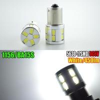 2pcs Lot 6V Super Brightness 450lm High Power 1156 Led 3W 17 5630SMD P21w Led Ba15s