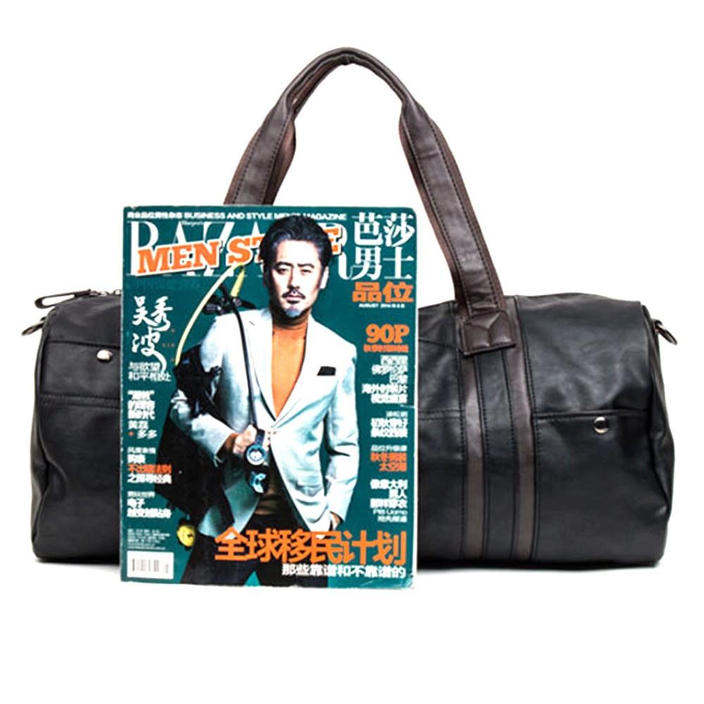 Men  s retro PU Leather Sports Bag Gym Bag Fitness Sport Bags Duffel Tote  Travel Shoulder Handbag Male Bag BG001 39dee39e06