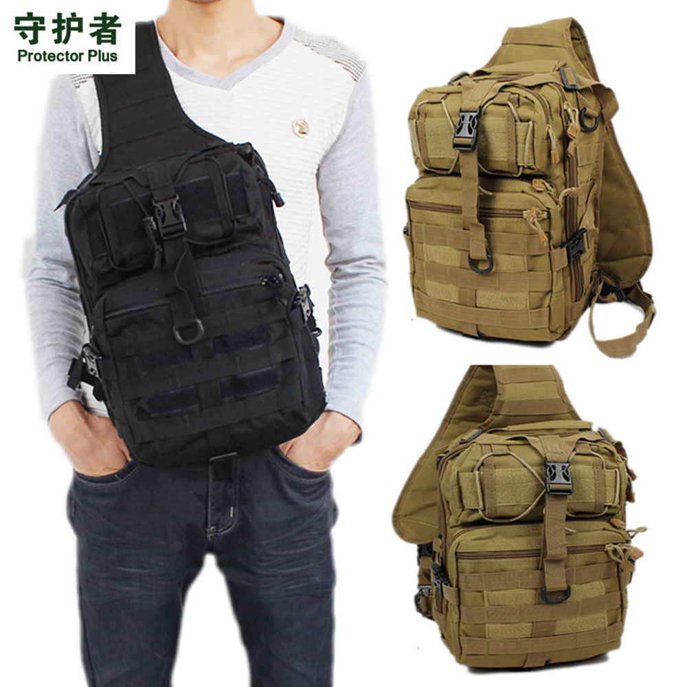 цена на Men 600D Nylon Waterproof Sling Chest Bag Military Motorcycle Travel Riding Cross Body Messenger Casual Shoulder Back Pack 2018