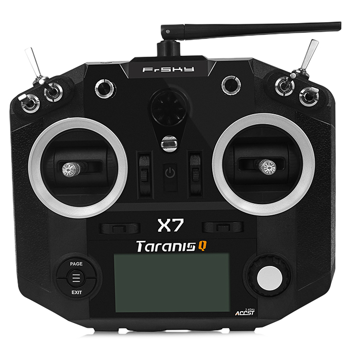 FrSky TARANIS Q X7 2.4GHz 7CH Transmitter with Quad Ball Bearing Gimbals OpenTX Firmware Flight Data Logging for RC Multicopter frsky tfr6 a 7ch fasst compatible receiver for rc multicopter