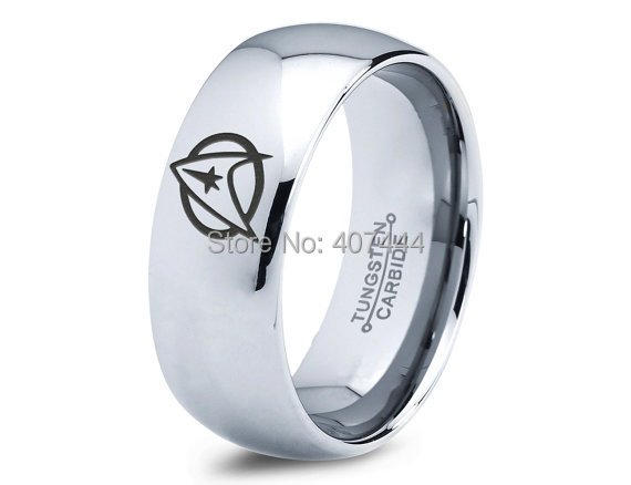 free shipping usa uk canada russia brazil 8mm comfort fit silve dome star trek trekkie new mens fashion tungsten wedding ring - Star Trek Wedding Ring