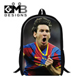 Cool Lionel Messi School Backpacks for Boys,Fashion children's bookbags,Characters Back Pack for Teenagers School Bags Mochilas