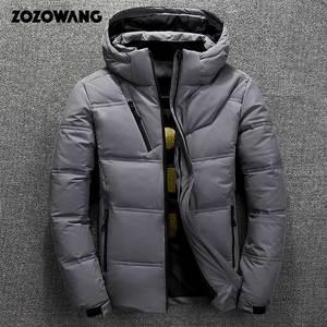 Image 4 - ZOZOWANG Hohe Qualität Weiße Ente Dicke Daunen Jacke männer mantel Schnee parkas männlichen Warme Marke Kleidung winter Unten Jacke Oberbekleidung