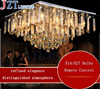 Z Top Luxury Modern LED Crystal Lamp Bedroom Light Livingroom Restaurant Square Ceiling Lights Include Remote