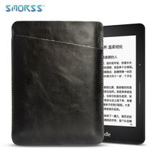 SMORSS Tablet Case Leather 6 inches E-book Protection Leather Case for Kindle Black Universal Fashion Portable Protective Cover