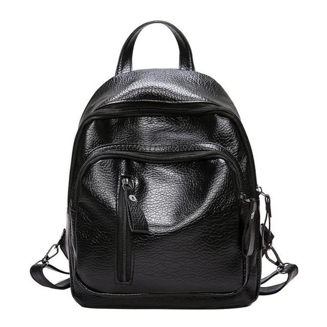 cd55ac10b1 Women Girl Backpack Multifunction Shoulder Bookbags School Bag Cute Fashion  Backpack Black Satchel Rucksack Drop Ship  T