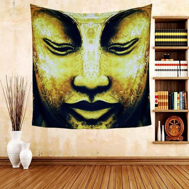 Art Tapestry Buddha Indian Mandala Wall Hanging Hippie Elephant ...