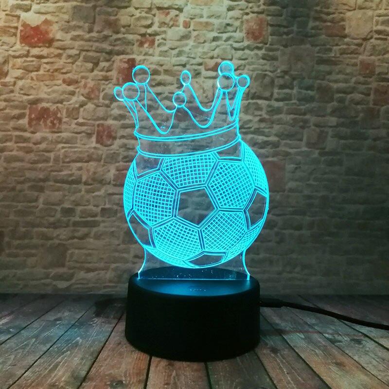3D Luminous Winner Football Model Nightlight 2018 LED Colourful Glow Fairy Light Home Decor Toys