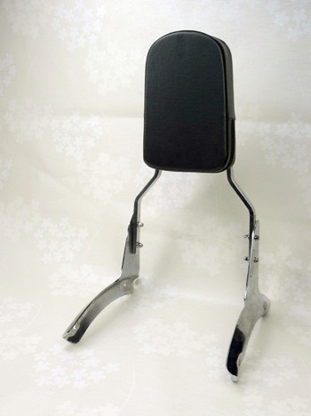 For Honda Shadow Aero 1100 Flame Backrest Sissy Bar With Leather Pad (All Years)