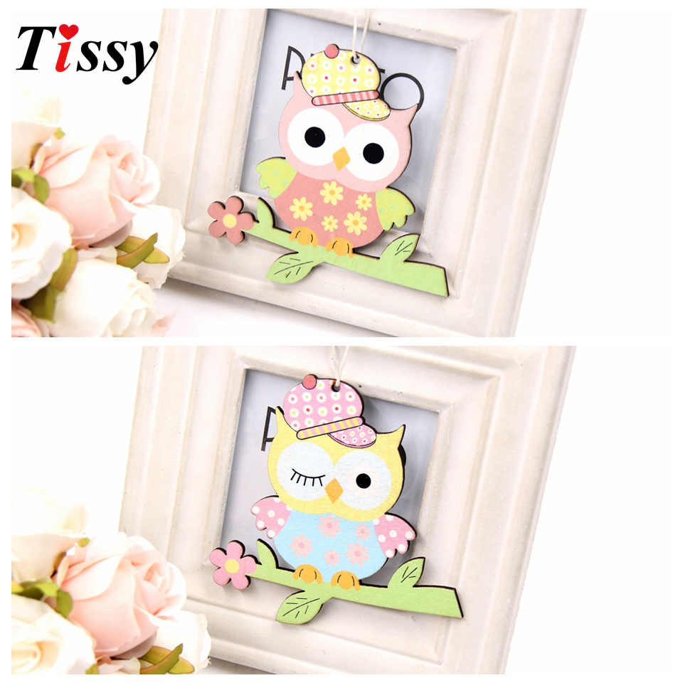 2PCS/Lot Creative Spring Birds Wooden Ornaments DIY Wood Crafts Gifts Kids Birthday Party Supplies Home Decor/Wedding Decoration