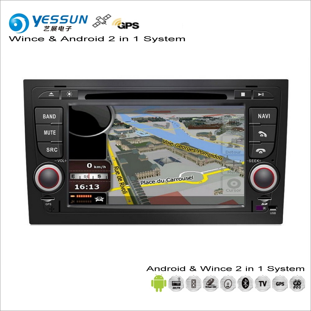 YESSUN For Audi A4 S4 RS4 2002~2008 Car Android Multimedia Radio CD DVD Player GPS Navi Map Navigation Audio Video Stereo System