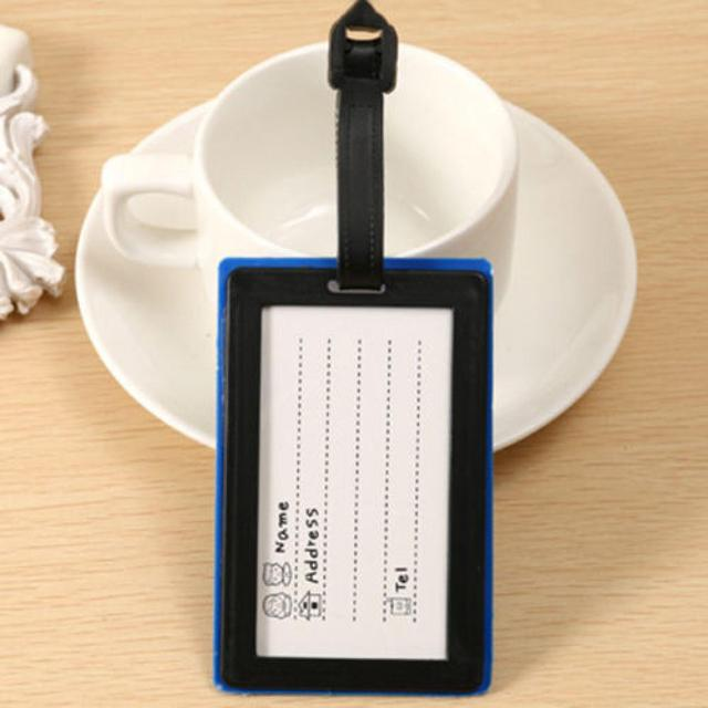 ISKYBOB Cute Portable Secure Travel Suitcase ID Card Luggage Handbag Large Luggage Tag Label Letters printed Travel Accessories