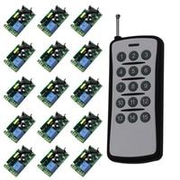 Best Quality 1CH AC 85V 110V 220V 250V RF Wireless Remote Control Switch Transimtter And 15pcs