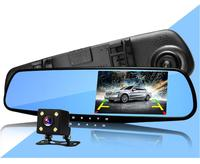 2pcs Hot Sale New 4 3 Inch Dual Lens Car Camera Recorder Full Hd 1080p Night