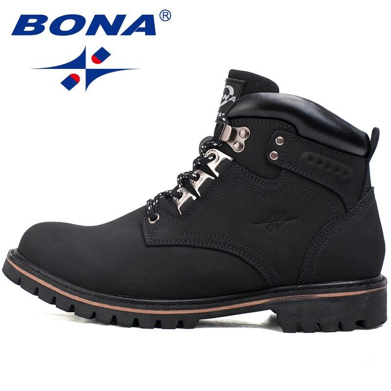 BONA New Classics Style Men Hiking Shoes Outdoor Walking Jogging Trekking Sneakers Lace Up Climbing Boots Men Fast Free Shipping