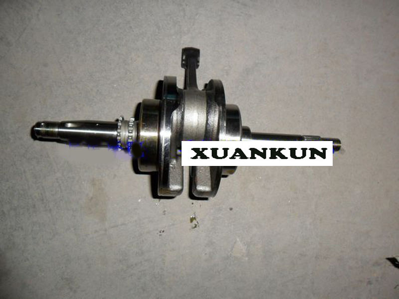 XUANKUN QJ125T-3A -E -28 -D Crankshaft / Connecting Rod Assembly GY6 Engine aluminum water cool flange fits 26 29cc qj zenoah rcmk cy gas engine for rc boat