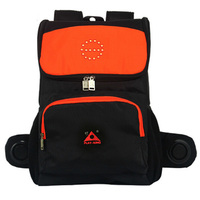 Reflective Motorcycle Backpack With LED Indicator Light With Speaker For Cycling Backpack Bag