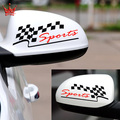car styling Car rearview mirror stickers reflective mirror motorcycle sports plaid sports personality decoration stcker