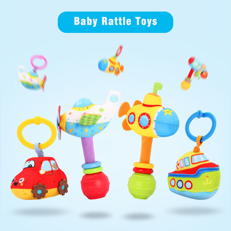 Hand Ring Bell Pull Shaking Bed Hang Baby Toys Baby Toys 0-1 Years Old Hand Hold Toys