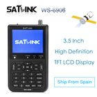 2PCS Satfinder SATXTREM Satlink WS-6906 DVB-S2 Digital Satlink HD Satellite Finder buscador With 3.5 Inch LCD DVB ws6906