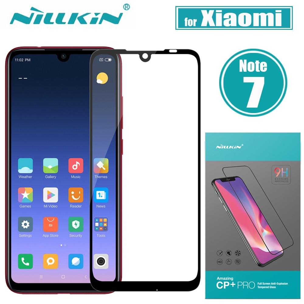Xiaomi Redmi Hinweis 7 Pro Glas Screen Protector Nillkin 2.5D Volle Kleber Abdeckung Schutzhülle Gehärtetem Glas Xiaomi Redmi Hinweis 7 pro 7S