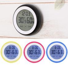 Kitchen Timer Digital Timer Alarm Clock  Touch screen LCD Temperature Display Desktop Table Clocks 4 Colors
