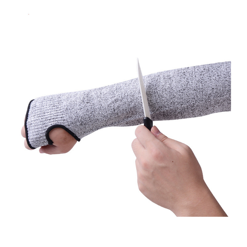 Wrist Wrap Cut Safety Arm Sleeve Purpose Thumb Hole Work Labor Protection Knit Slash Safety Cut Resistant Women Men Safety Glove