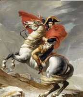 Hand Painted Portrait Classical Oil Painting on Canvas Napoleon Crossing the Alps, 1801 by Jacques Louis David Home Decor Art