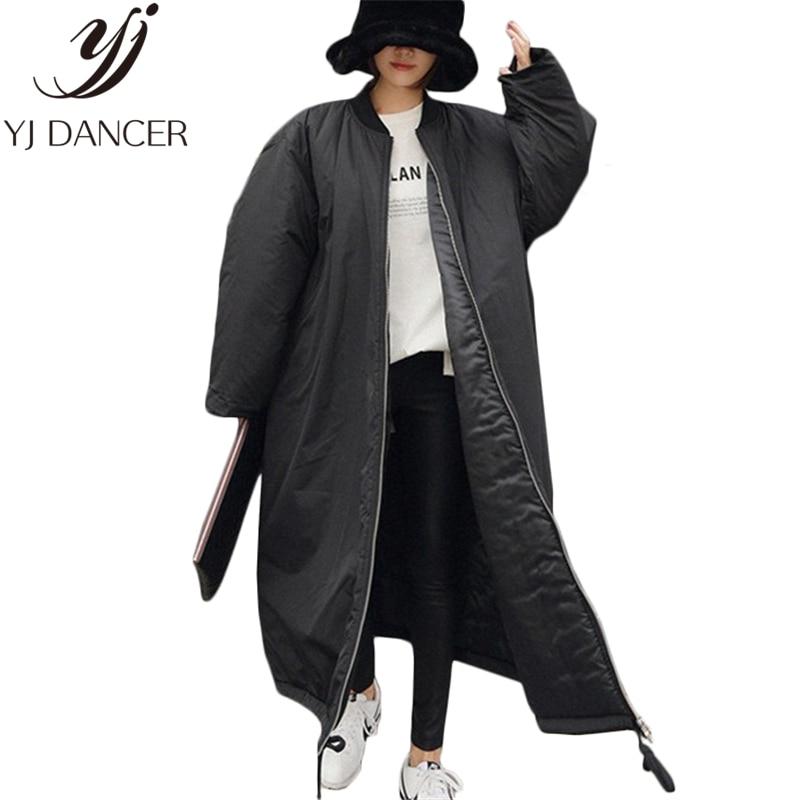 Veste Femelle Bas Coupe Épaissir Manteau Outwear Mode long Black Vers vent Le Hiver 2018 Parkas Oversize Coton X L280 Femme Chaud TZCcqc0