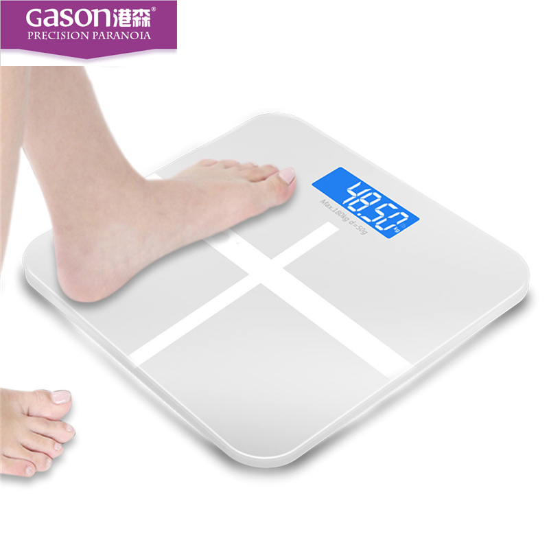 GASON A1 LCD household electronic digital bathroom weight weighing scale machine bath room balance scales products tools 180Kg(China)
