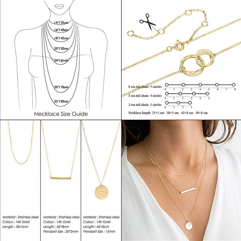 CC Stainless Steel Necklace DIY Stylish Fashion Jewelry Long Chain Simple Pendant Custom Name Letter Choker Necklaces For Women